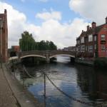 ウェンサム川(River Wensum)にかかる橋